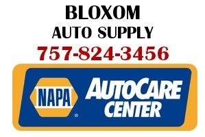 Bloxom Auto Supply, NAPA AutoCare Center, Route 13, Mappsville 757-824-2459
