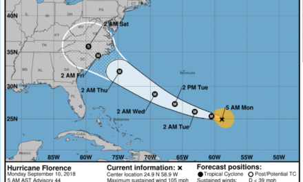 Florence Upgraded to Category 4 Storm