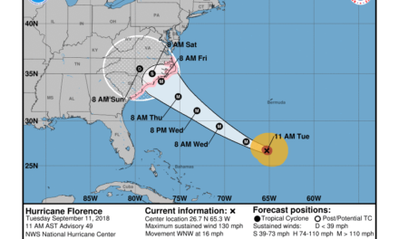 Hurricane Florence Noon Update