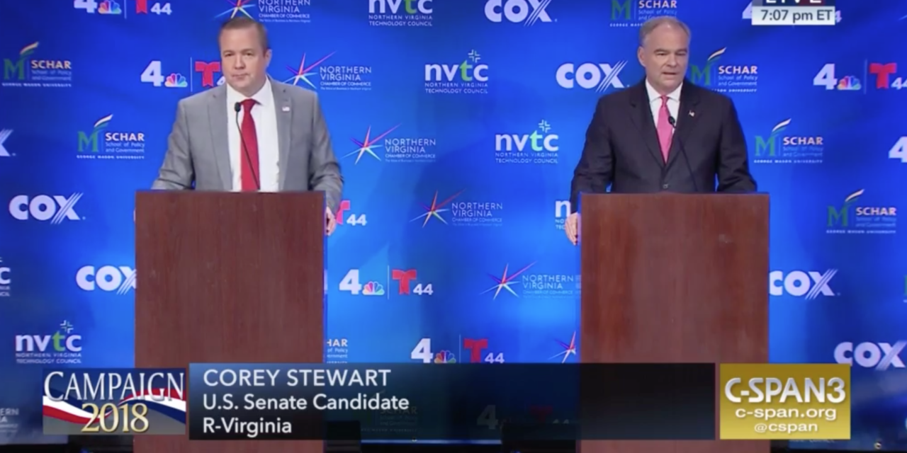 Stewart and Kaine Trade Insults at Wednesday Night's Debate