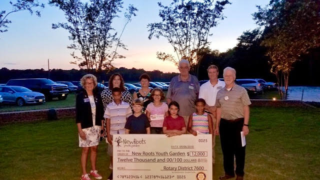 New Roots Youth Garden Receives Rotary Three Club Grant