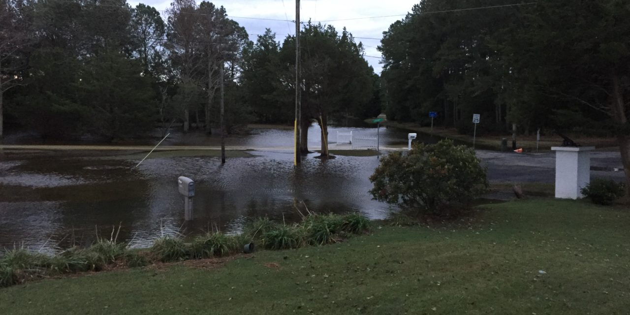 Bayside Roads Flooded This Morning