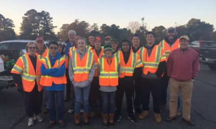 Onancock Rotary Club and Arcadia High and Middle Schools Clean Up Town Road