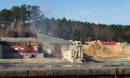 Fire Erupts in T&W Shed Thursday