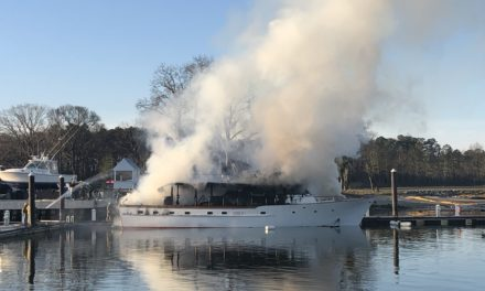 75  ft. Yacht Burns in Cape Charles