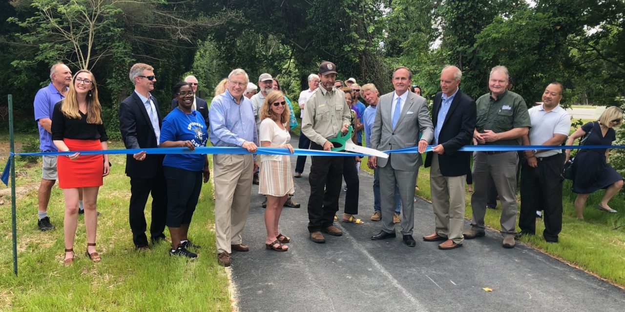 Ribbon cut on second phase of bike trail