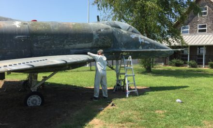 Public invited to view the newly painted A-4 at the Accomack County Airport Wednesday