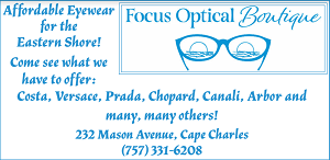 Focus Optical Boutique Cape Charles WESR ShoreDailyNews