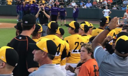 Central Accomack Little League Senior League team recognized at Shorebirds