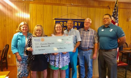 Rotary presents $15,000 check for Eastville Community Health Center