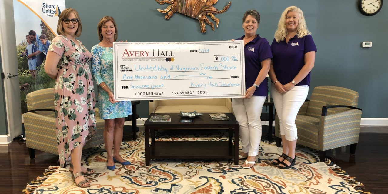 Avery Hall and Selective donate to United Way