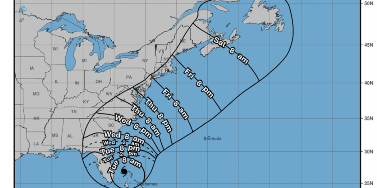 Tropical Storm Watch has been issued for the Eastern Shore