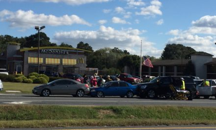Chain reaction accident injures four at McDonalds intersection in Onley