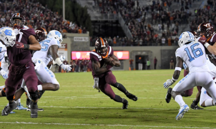 Hokies slip past UNC in six-overtime thriller
