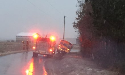 Accomack County school bus slides into ditch Tuesday afternoon