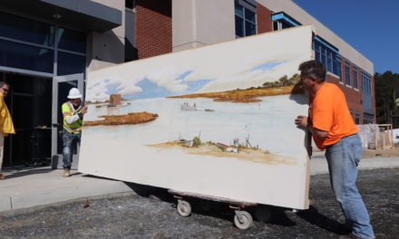 Crockett mural makes move to Eastern Shore Community College new building