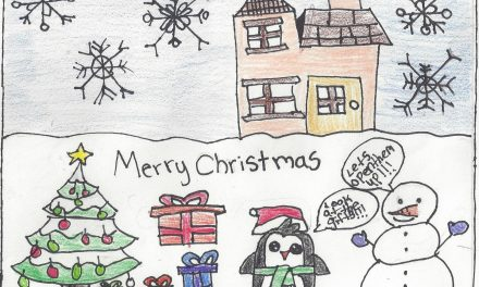 Winners from Delegate Bloxom's Christmas Card Contest
