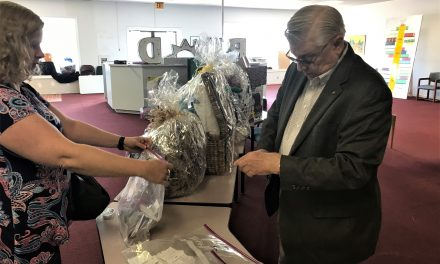 Basket Raffle Successful for Library Foundation