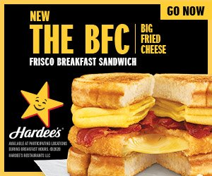 Hardees Frisco Breakfast Sandwich