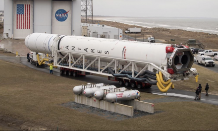 Antares moved out to Pad 0A Wednesday morning