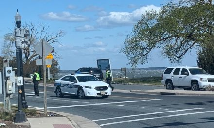 Checkpoint in place coming on to Chincoteague Island