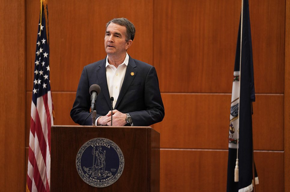 Northam says that Virginia COVID numbers looking good