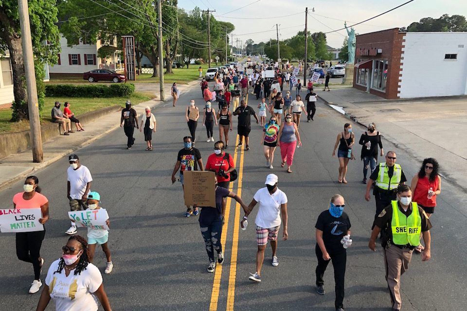Eastern Shore rallies protest death of George Floyd