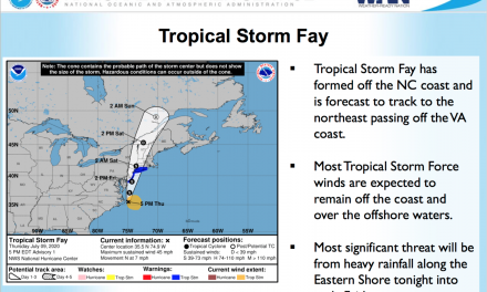 Tropical Storm Faye to affect Eastern Shore Friday morning