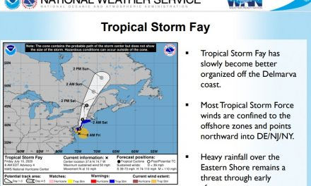 Most of Eastern Shore misses rain from Tropical Storm Fay