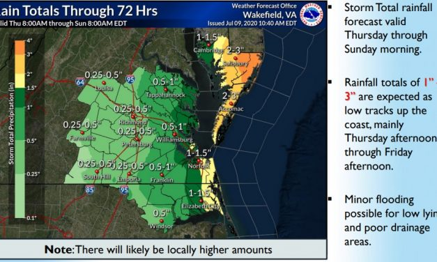 NWS issues Flash Flood Watch for Accomack County, southern Maryland