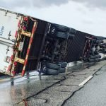 Tractor Trailer overturns on CBBT in popup storm
