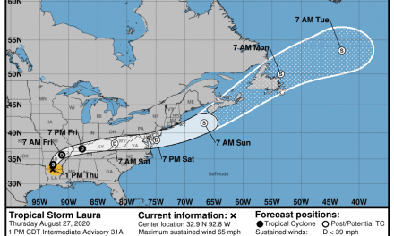 Laura weakens to Tropical Depression; will affect Shore Saturday