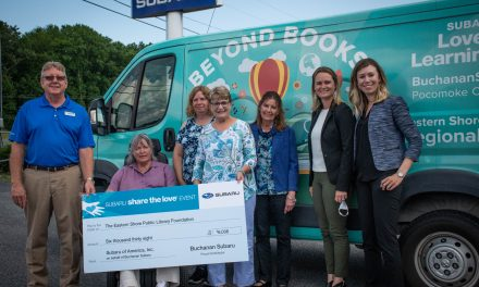 "Buchanan Subaru donates ""Share the Love"" to the Eastern Shore Public Library"