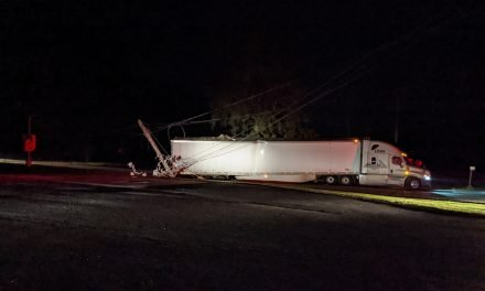 Tractor trailer hits power pole; over 1700 lose power in Belle Haven area