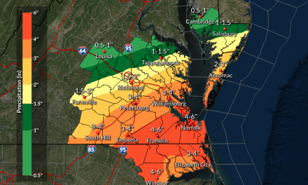 NWS updated Shore rainfall forecast: lower Shore could see 3-6 inches