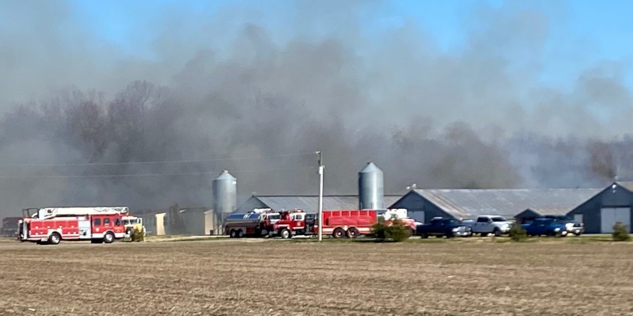 Eight fire companies respond to chicken house fire Wednesday afternoon