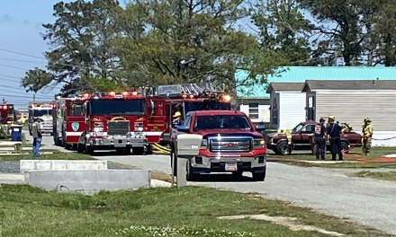 Units respond to working residential structure fire on Chincoteague Island