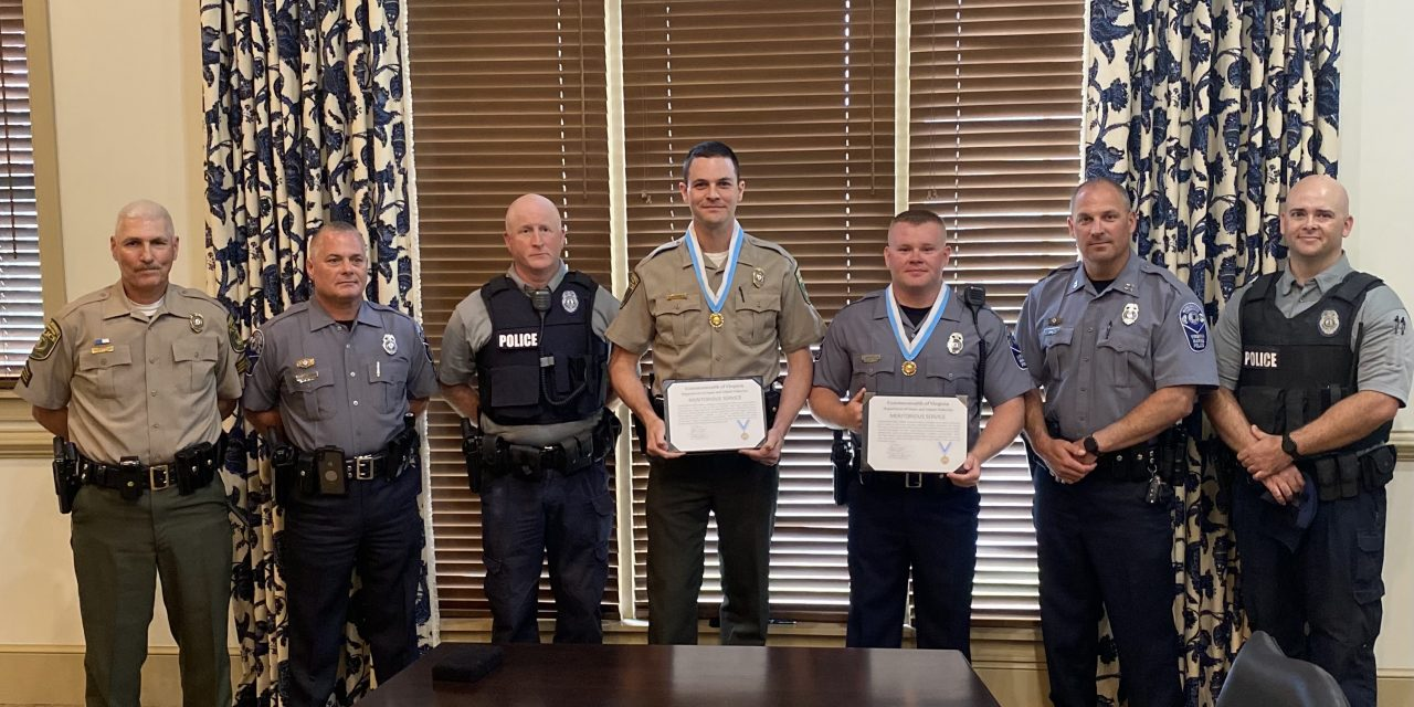 Officers awarded for saving lives of three duck hunters