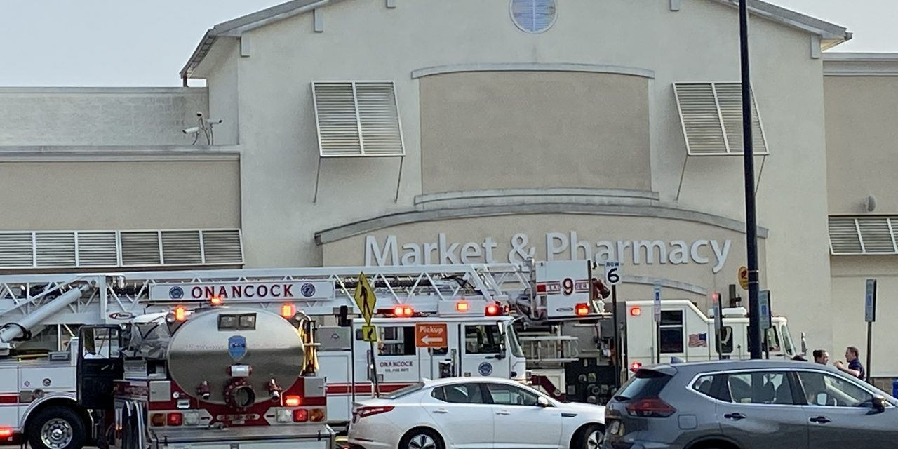 Electrical fire damages freezers at Onley Wal Mart