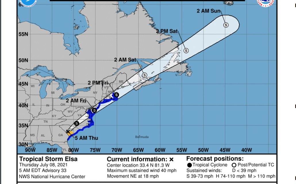 Tropical Storm Warnings issued for the Eastern Shore