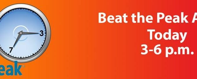 Beat the Peak Alert! Today from 3-6 p.m.
