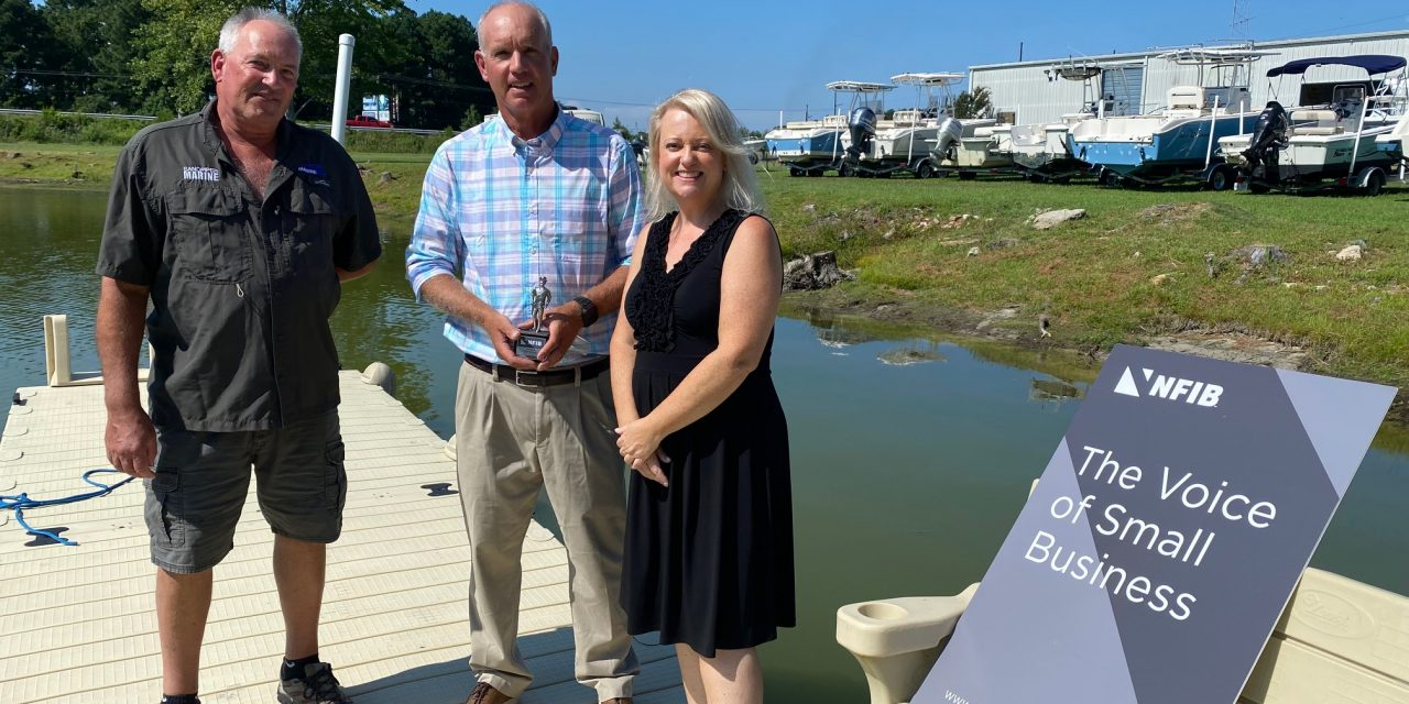 NFIB recognizes Delegate Bloxom as Guardian of Small Business